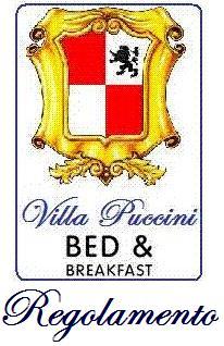 Regolamento Villa Puccini B&B