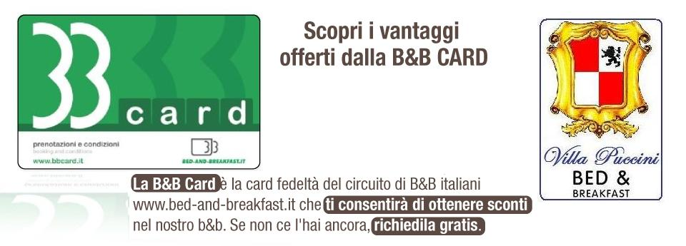 bb card Villa Puccini Bed and breakfast Lecco
