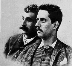 Ferdinando Fontana e Giacomo Puccini intorno al 1885